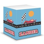 Race Car Sticky Note Cube (Personalized)
