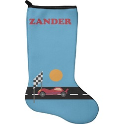 Race Car Christmas Stocking - Neoprene (Personalized)