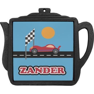 Race Car Teapot Trivet (Personalized)