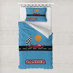 Race Car Toddler Bedding w/ Name or Text