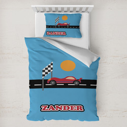 Race Car Toddler Bedding w/ Name or Text