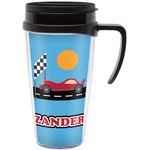 Race Car Travel Mug with Handle (Personalized)