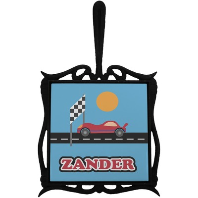 Race Car Trivet with Handle (Personalized)