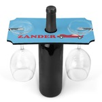 Race Car Wine Bottle & Glass Holder (Personalized)