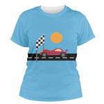 Race Car Women's Crew T-Shirt (Personalized)