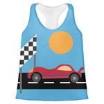 Race Car Womens Racerback Tank Top (Personalized)
