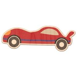 Race Car Genuine Wood Sticker (Personalized)