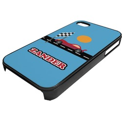 Race Car Plastic 4/4S iPhone Case (Personalized)