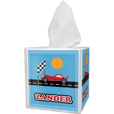 Race Car Tissue Box Cover (Personalized)