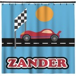 Race Car Shower Curtain (Personalized)