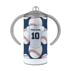 Baseball Jersey 12 oz Stainless Steel Sippy Cup (Personalized)