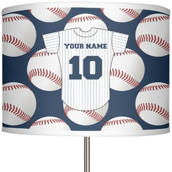 """Baseball Jersey 13"""" Drum Lamp Shade Polyester (Personalized)"""