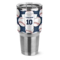 Baseball Jersey Stainless Steel Tumbler - 30 oz (Personalized)