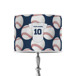 """Baseball Jersey 8"""" Drum Lamp Shade - Poly-film (Personalized)"""