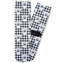 Baseball Jersey Adult Crew Socks (Personalized)