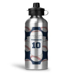 Baseball Jersey Water Bottle - Aluminum - 20 oz (Personalized)