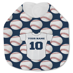 Baseball Jersey Jersey Knit Baby Bib w/ Name and Number