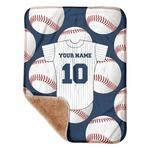"Baseball Jersey Sherpa Baby Blanket 30"" x 40"" (Personalized)"