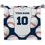 Baseball Jersey Full Print Bath Towel (Personalized)