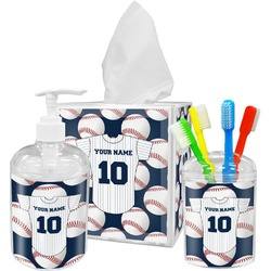 Baseball Jersey Bathroom Accessories Set (Personalized)