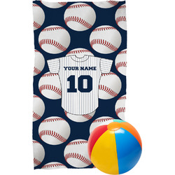 Baseball Jersey Beach Towel (Personalized)