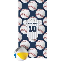 Baseball Jersey Beach Towel (Personalized)
