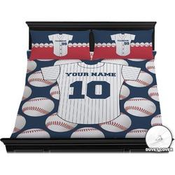 Baseball Jersey Duvet Cover Set - King (Personalized)