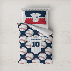 Baseball Jersey Duvet Cover Set - Twin (Personalized)