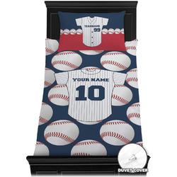 Baseball Jersey Duvet Cover Set - Twin XL (Personalized)