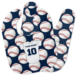 Baseball Jersey Baby Bib w/ Name and Number