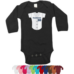 Baseball Jersey Bodysuit - Black (Personalized)