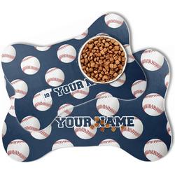 Baseball Jersey Bone Shaped Dog Food Mat (Personalized)