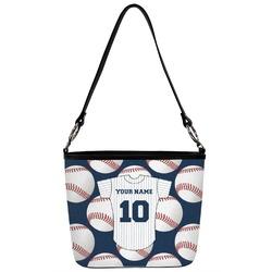 Baseball Jersey Bucket Bag w/ Genuine Leather Trim (Personalized)