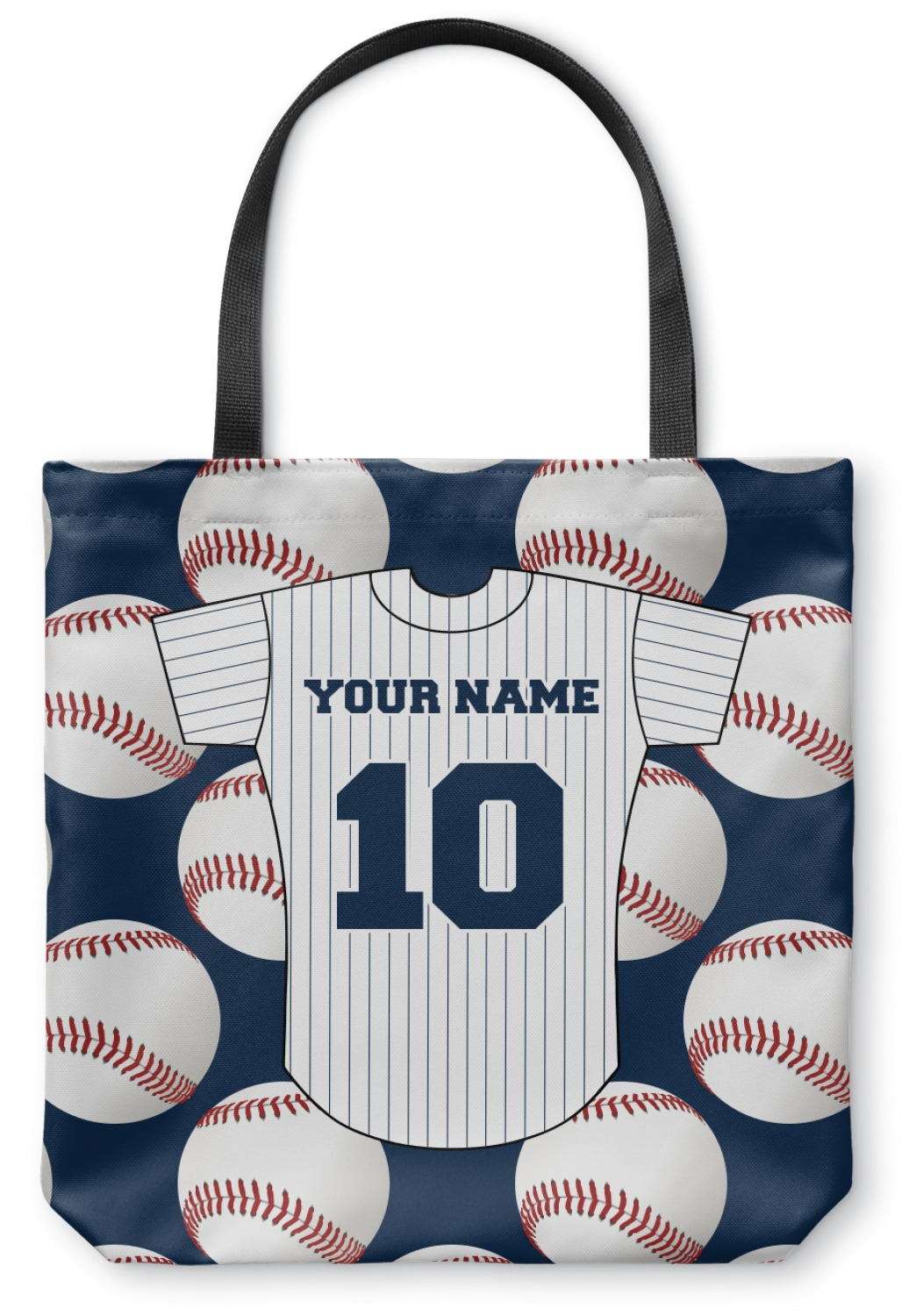 Baseball Jersey Canvas Tote Bag Large 18 Quot X18