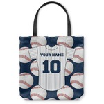 Baseball Jersey Canvas Tote Bag (Personalized)