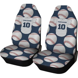 Baseball Jersey Car Seat Covers (Set of Two) (Personalized)