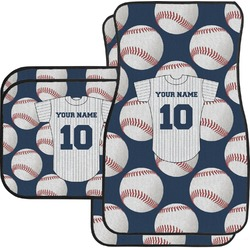 Baseball Jersey Car Floor Mats Set - 2 Front & 2 Back (Personalized)