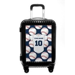 Baseball Jersey Carry On Hard Shell Suitcase (Personalized)