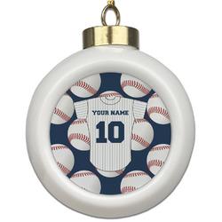 Baseball Jersey Ceramic Ball Ornament (Personalized)