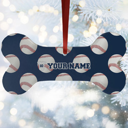 Baseball Jersey Ceramic Dog Ornaments w/ Name and Number