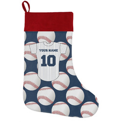 Baseball Jersey Holiday Stocking w/ Name and Number