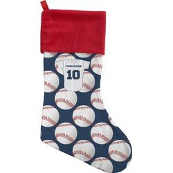 Baseball Jersey Christmas Stocking - Single-Sided (Personalized)