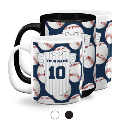 Baseball Jersey Coffee Mugs (Personalized)