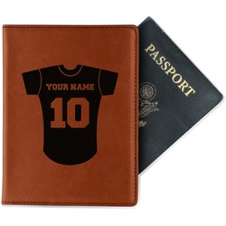 Baseball Jersey Leatherette Passport Holder (Personalized)