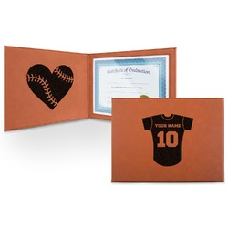 Baseball Jersey Leatherette Certificate Holder (Personalized)