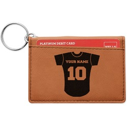 Baseball Jersey Leatherette Keychain ID Holder (Personalized)