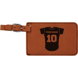 Baseball Jersey Leatherette Luggage Tag (Personalized)