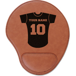 Baseball Jersey Leatherette Mouse Pad with Wrist Support (Personalized)