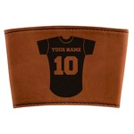 Baseball Jersey Leatherette Cup Sleeve (Personalized)