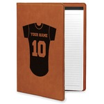 Baseball Jersey Leatherette Portfolio with Notepad (Personalized)